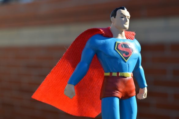 Car Dealership Key Management to the Rescue - Image of Superhero in Red and Blue