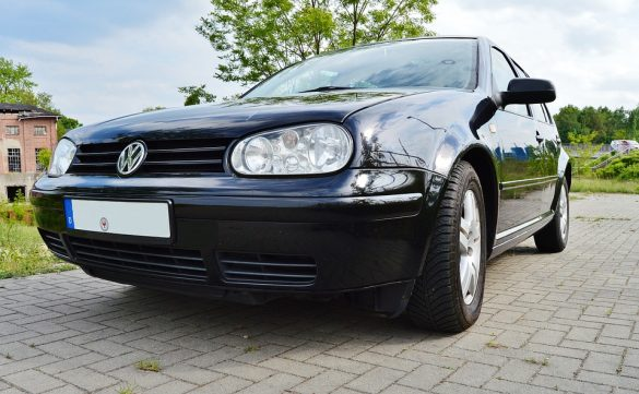 automotive key tracking systems - Security Key automotive key tracking systems shares some top used cars for students - Image of black VW Golf GTI parked on a cobblestone drive